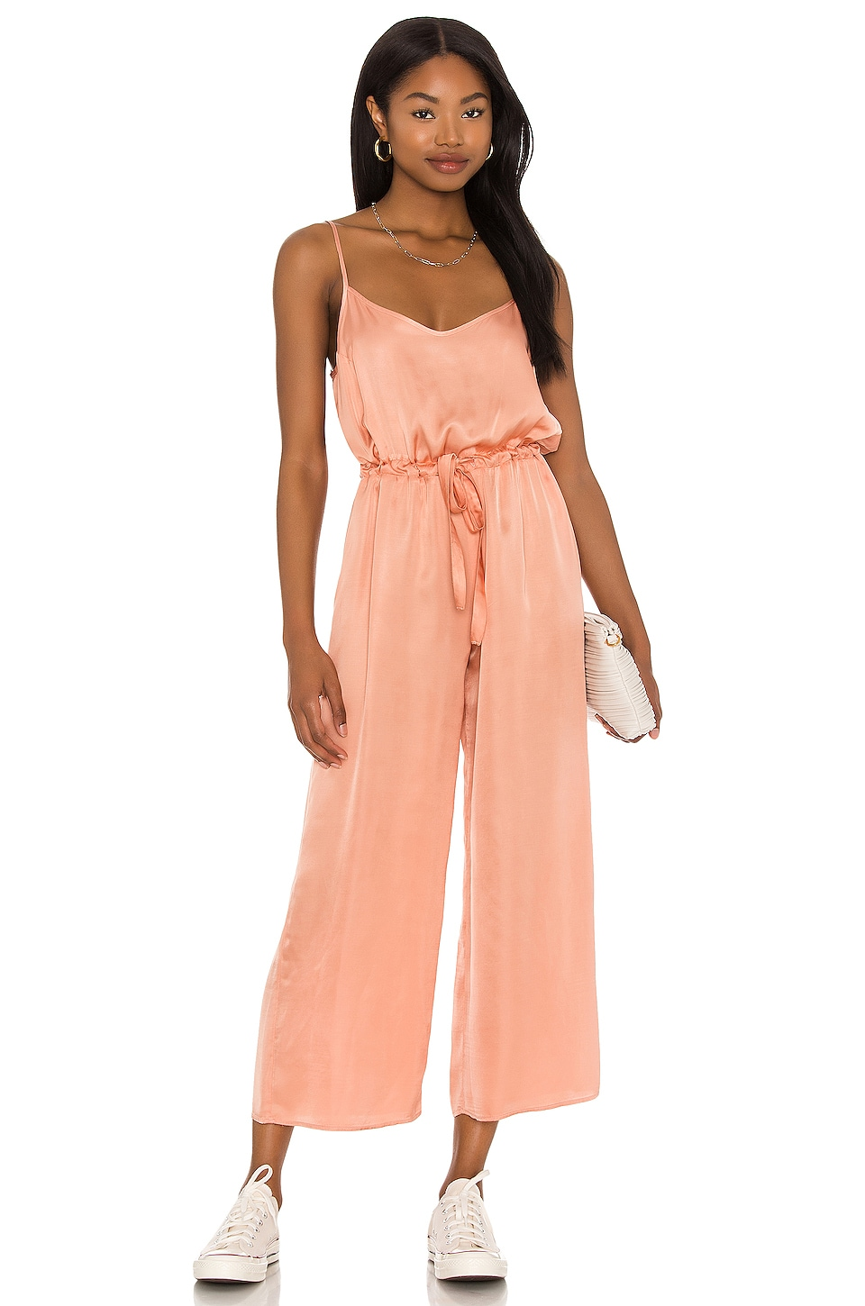Nation LTD Aly Easy Playsuit in Pink Glaze