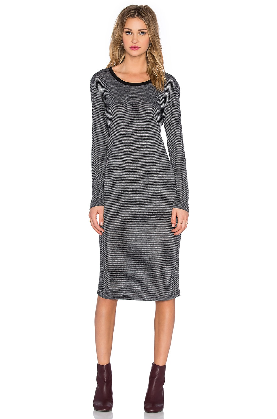 Nation LTD Talia T-Shirt Dress in Black