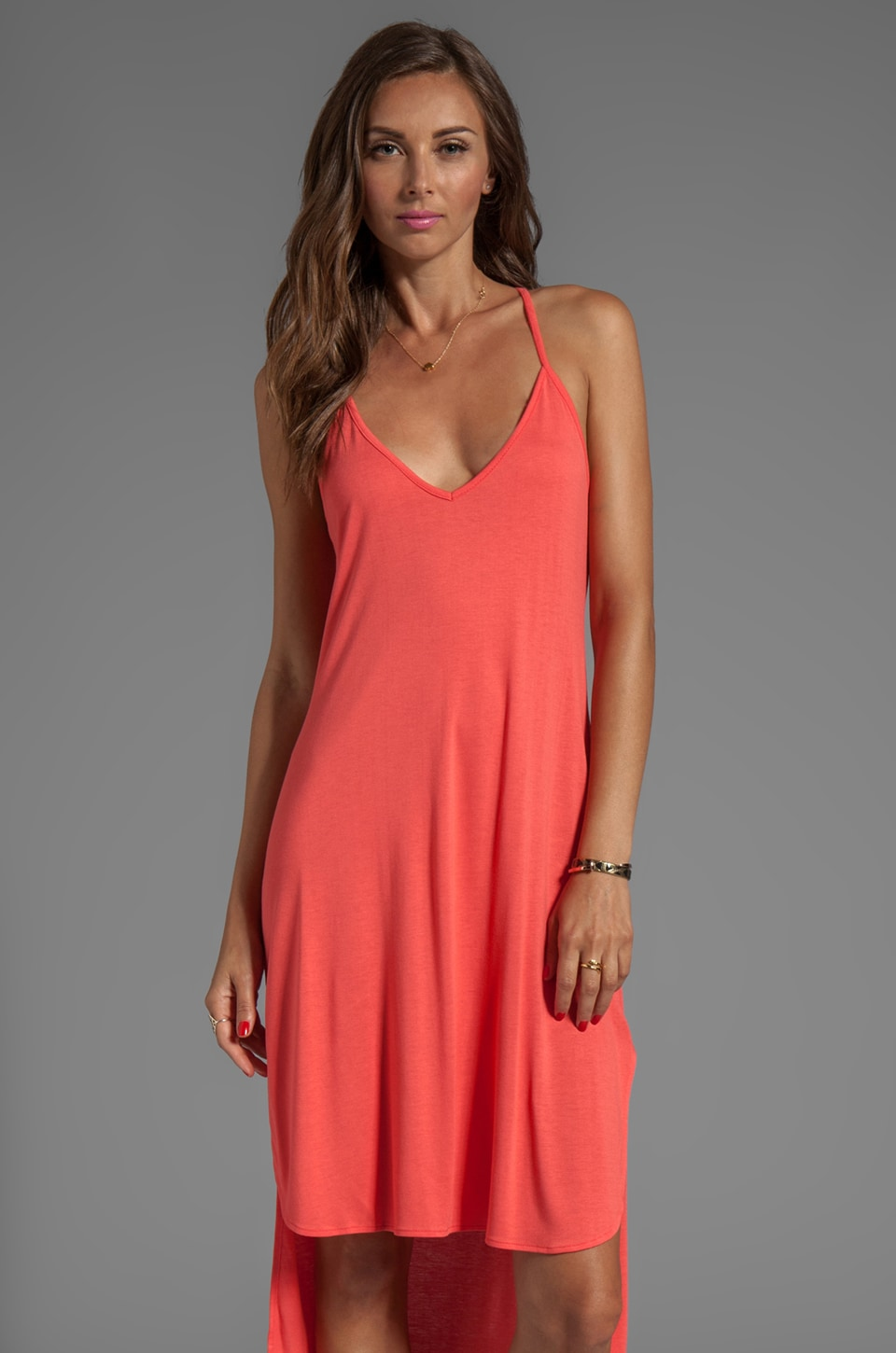 Nation LTD Edgewater Hi-Lo Dress in Poppy