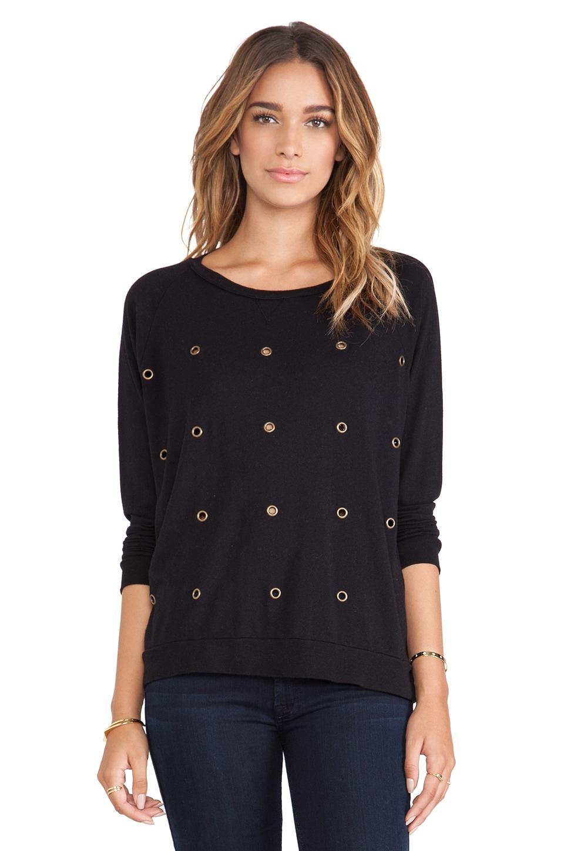 Nation LTD Raglan Sweatshirt in Black