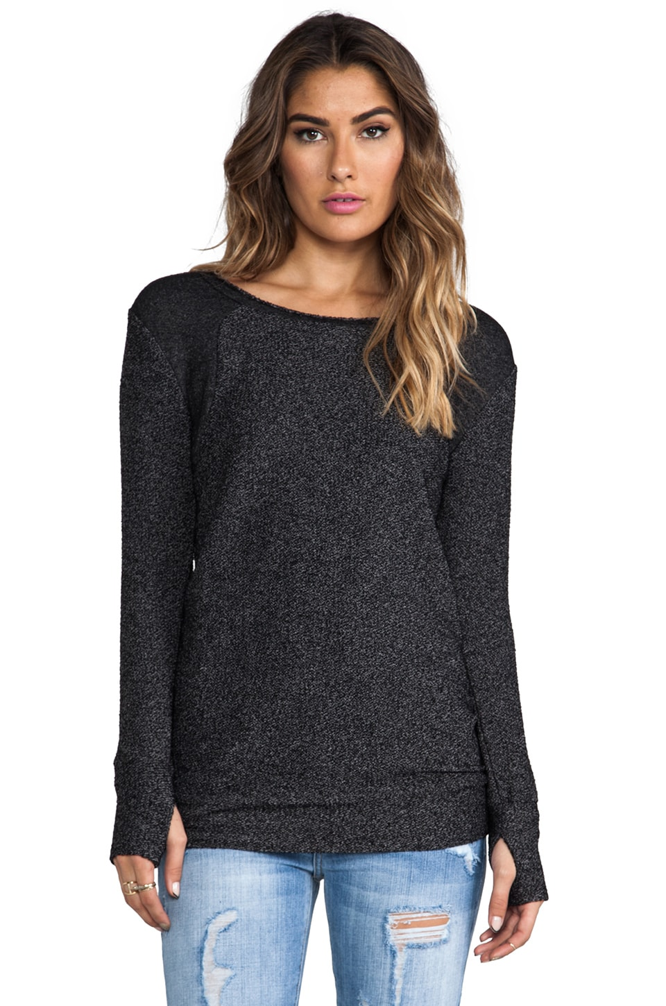 Nation LTD Park Place Tunic Sweatshirt in Black