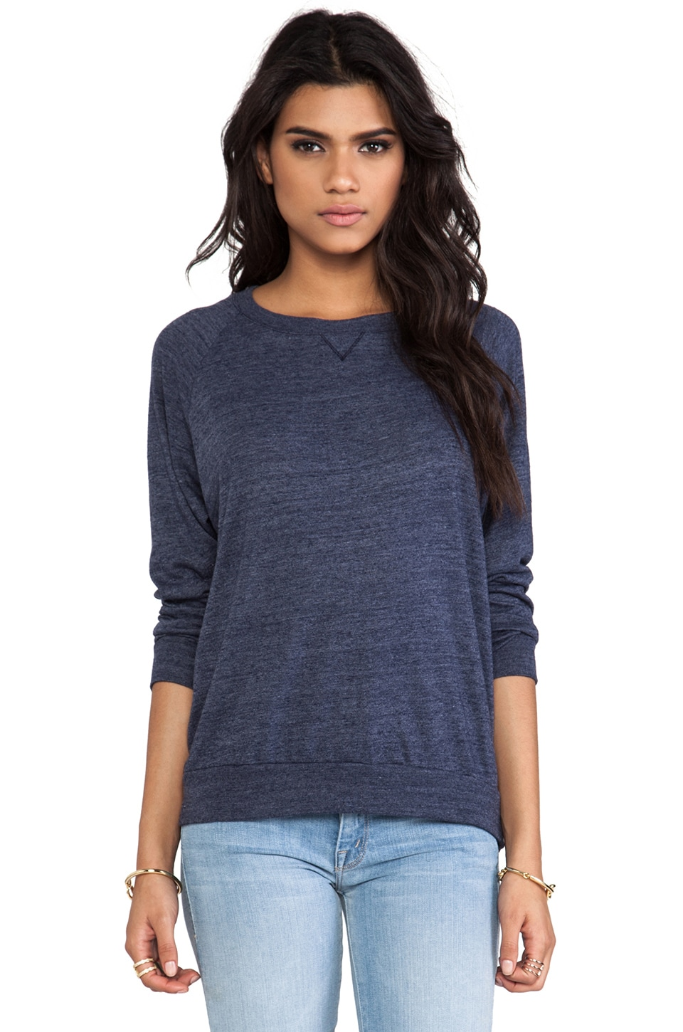 Nation LTD Raglan Sweatshirt in Nation Navy