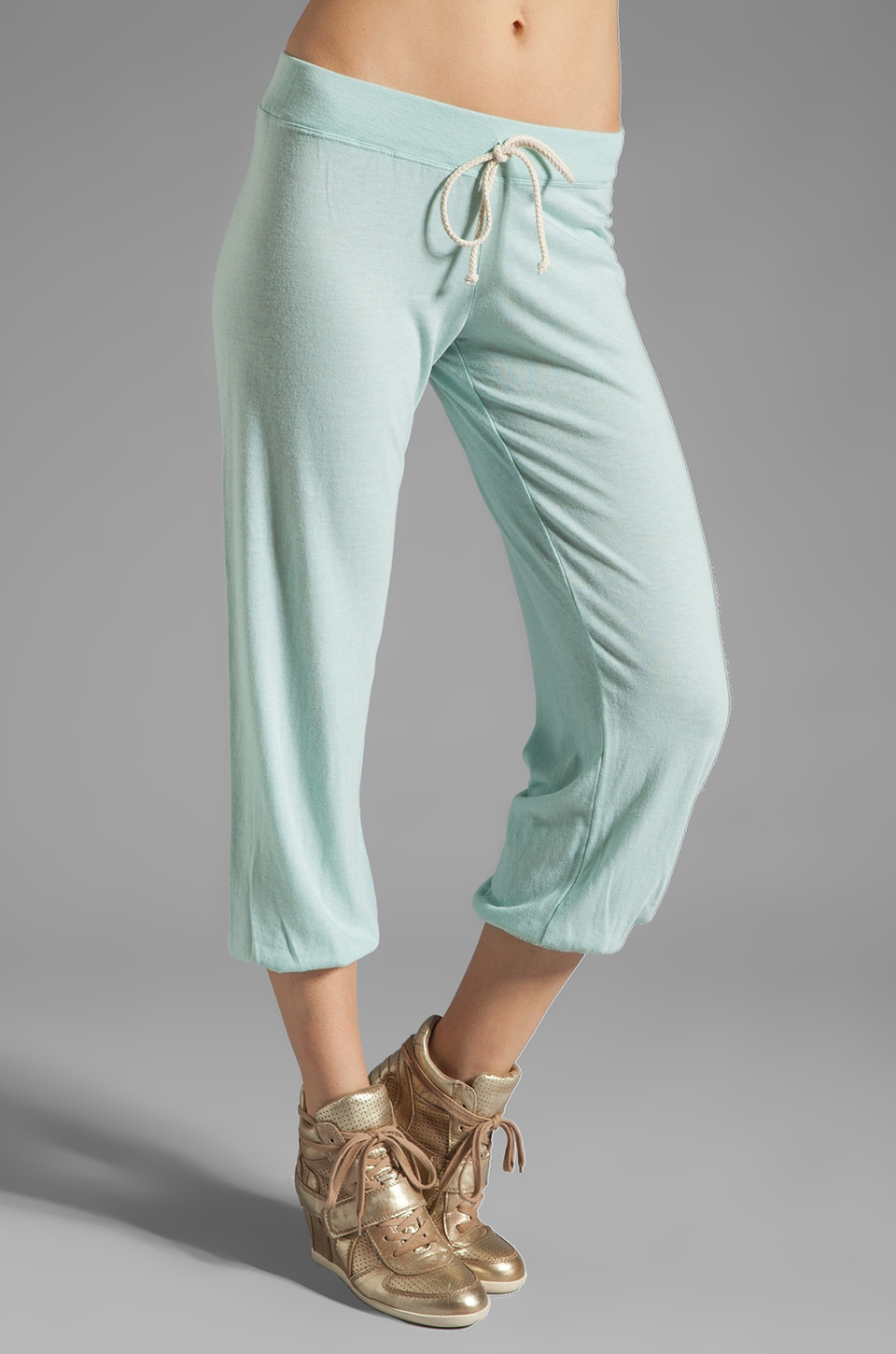 Nation LTD Medora Capri Sweats in Mint