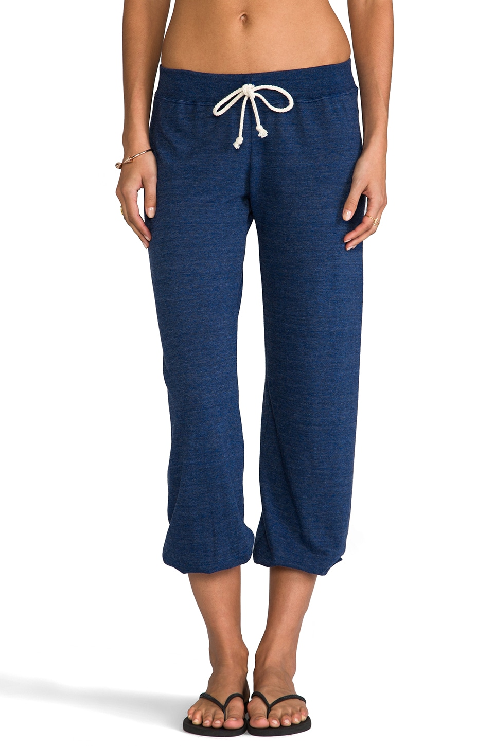 Nation LTD Medora Capri Sweats in Heather Bluebird