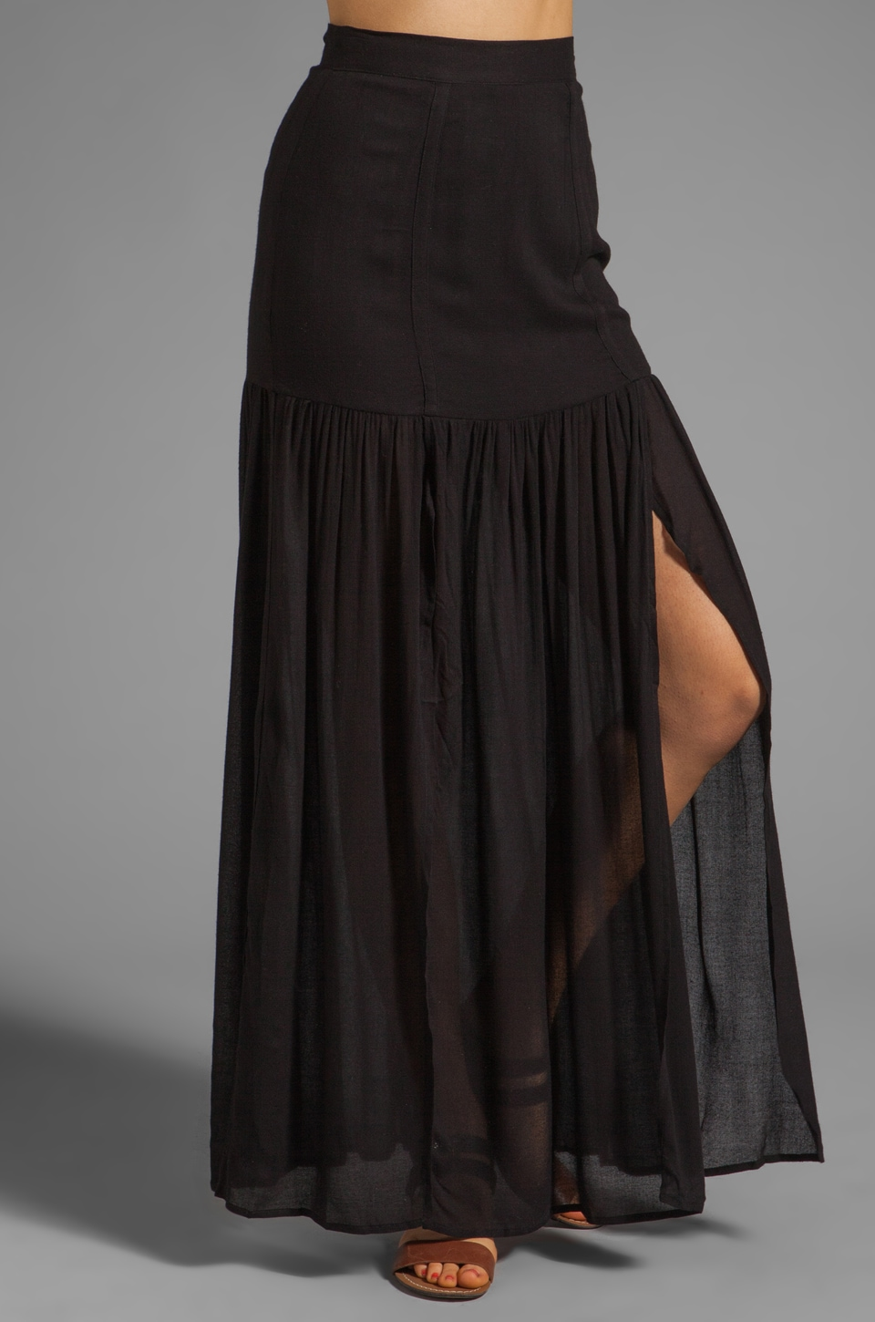 Nation LTD Tilary Maxi Skirt in Black