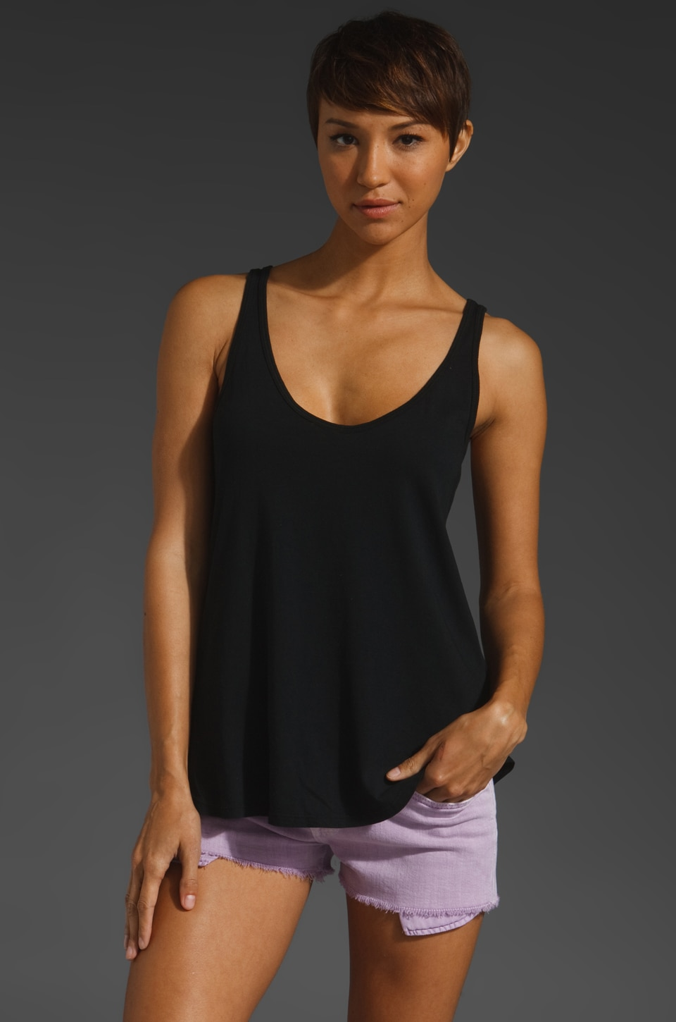 Nation LTD Myrtle Beach Tank in Black