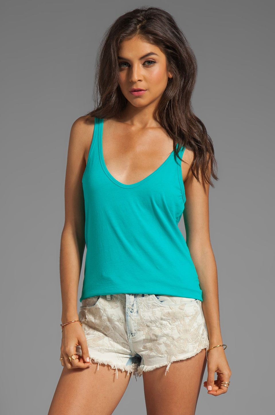 Nation LTD Myrtle Beach Tank in Island Turquoise