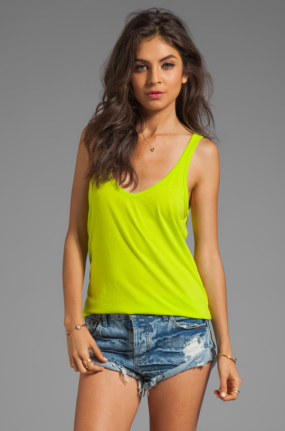 Nation LTD Myrtle Beach Tank in Lime