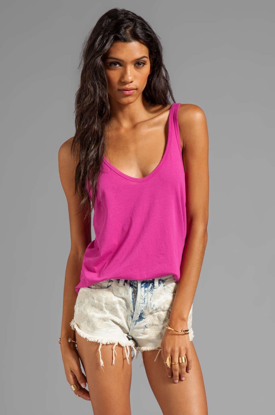 Nation LTD Myrtle Beach Tank in Fuchsia