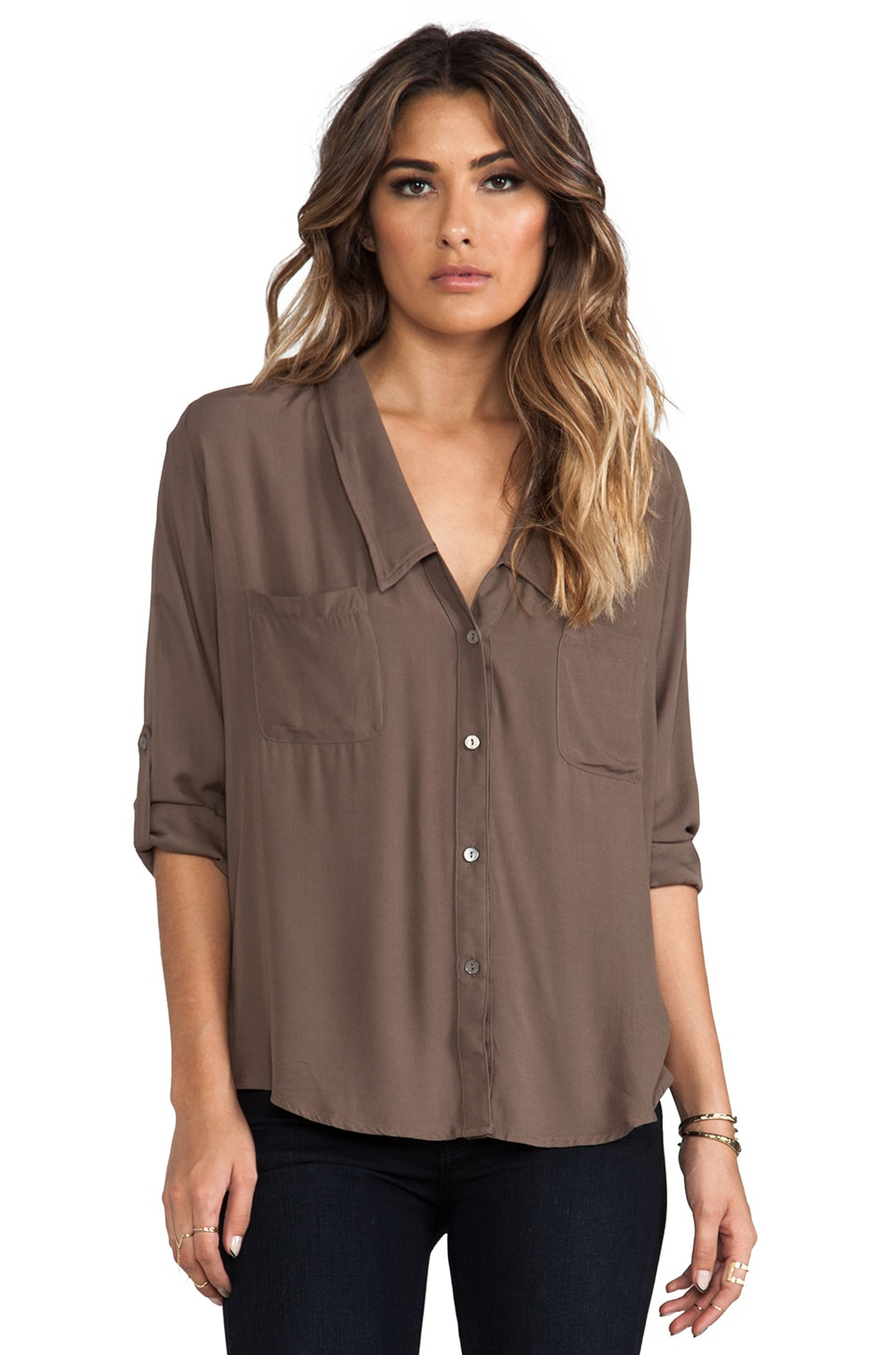 Nation LTD Bay Area Button Down in Dusty Olive