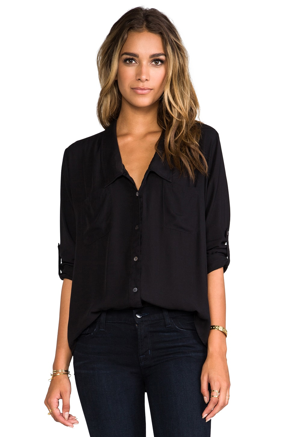 Nation LTD Bay Area Button Down in Black