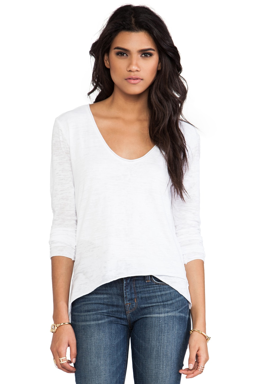 Nation LTD Santa Rosa Burnout Tunic in White