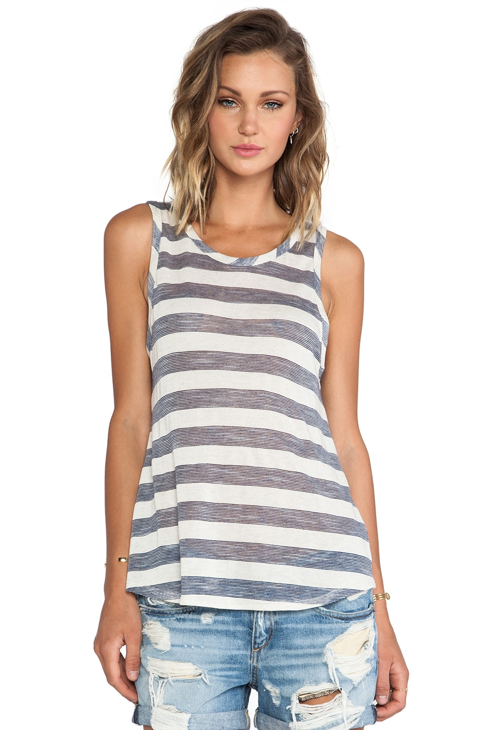 Nation LTD Solano Canyon Tank in Oatmeal Stripe
