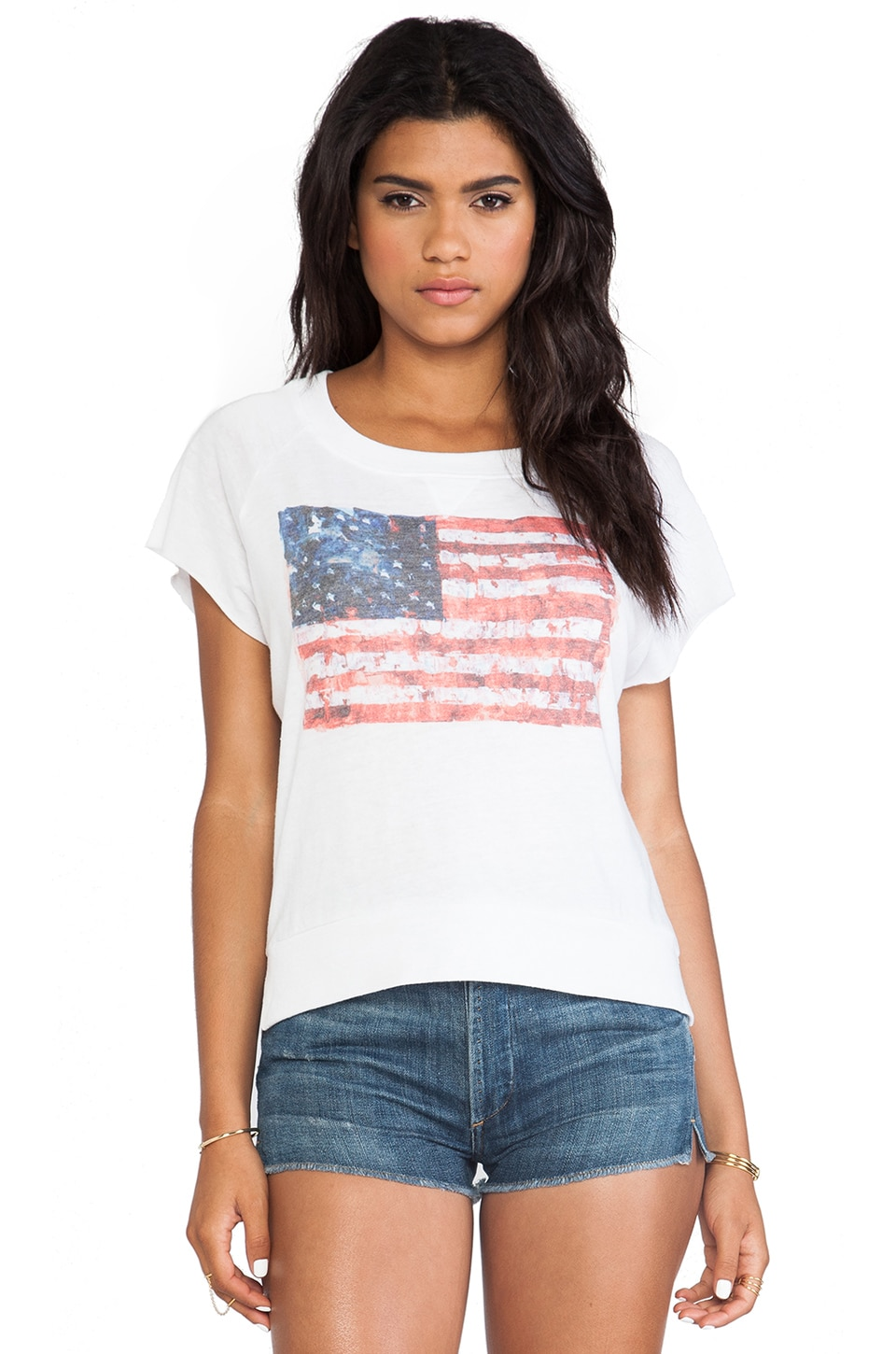 Nation LTD 3rd Street Tee in White Flag
