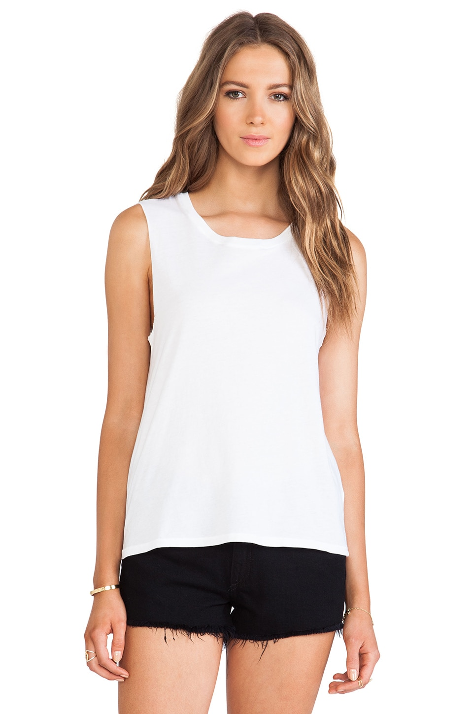Nation LTD Camden Muscle Tee in White