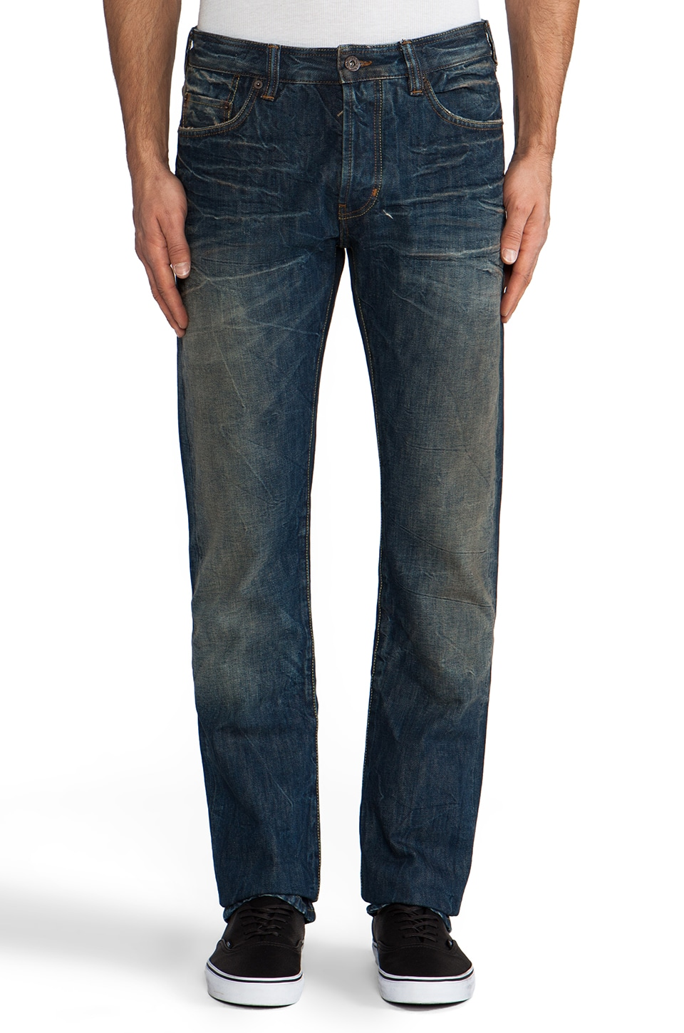Natural Selection Denim Smith Straight in Saddle