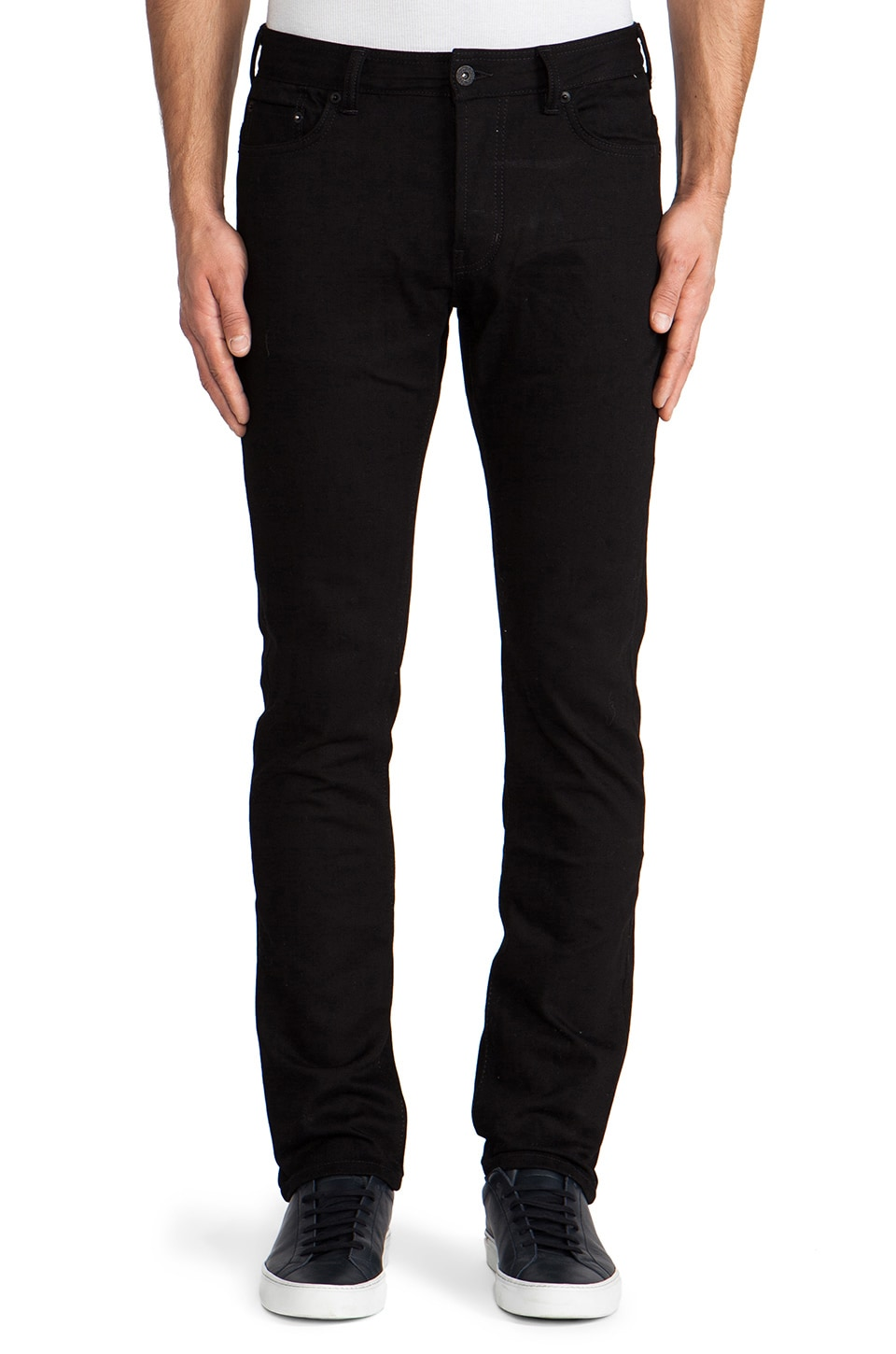 Natural Selection Denim Taper in Black