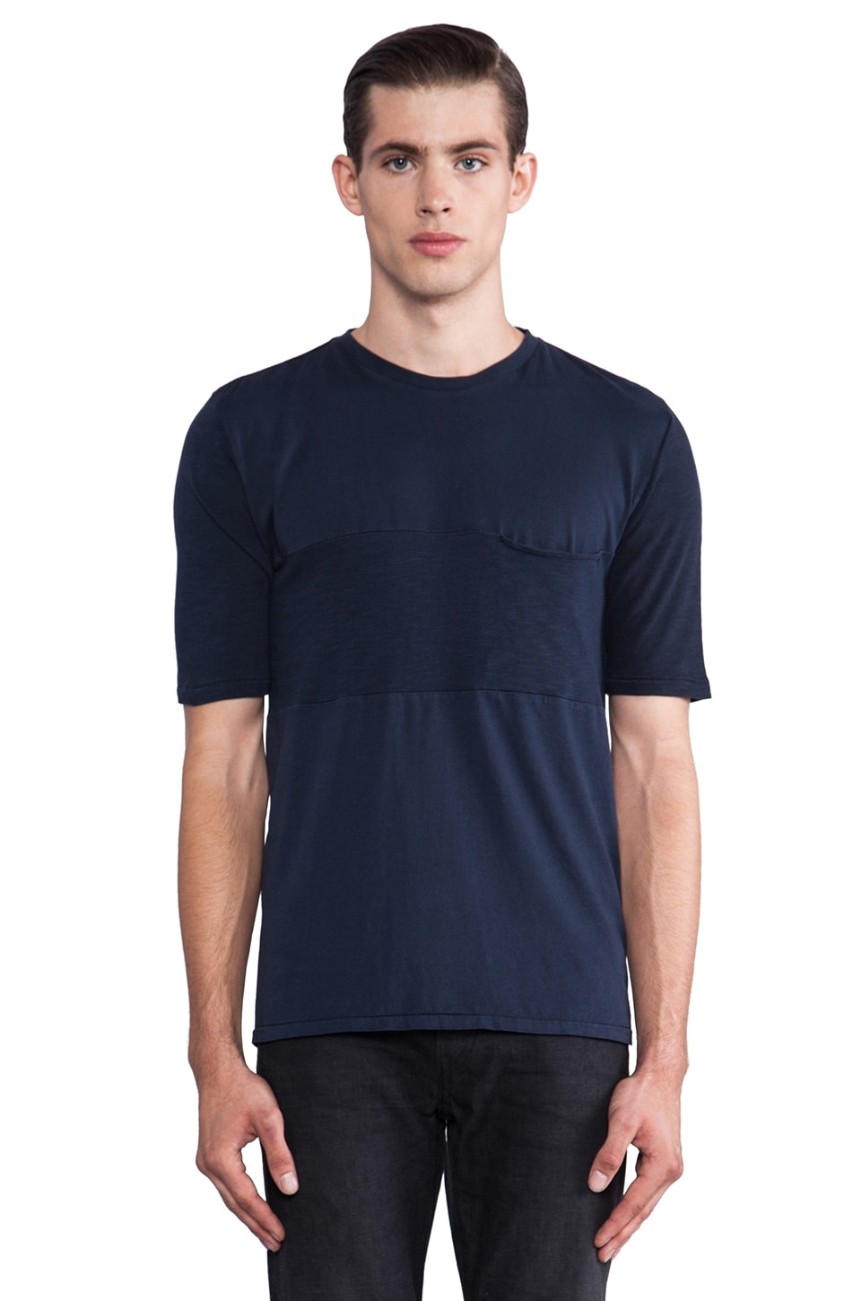 Natural Selection Denim Revenge Tee in Navy