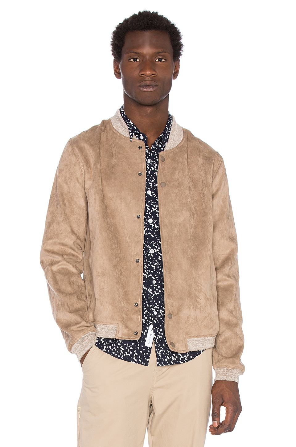 Native Youth Brushed Bomber in Sand