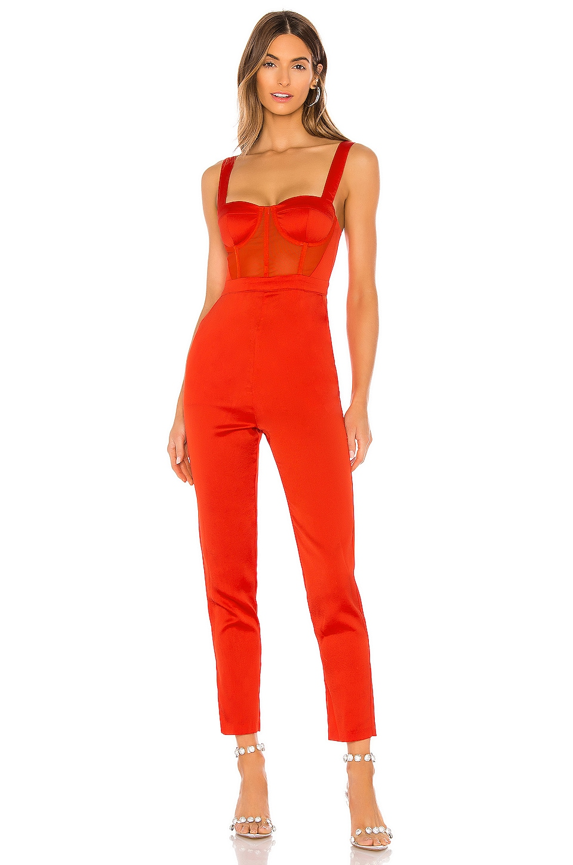 NBD Kailynn Jumpsuit in Red Orange