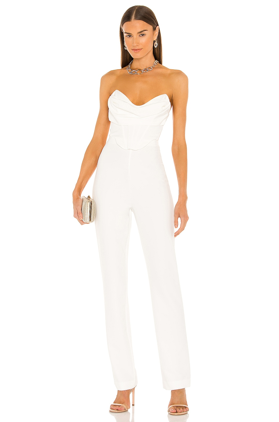NBD Conner Jumpsuit in White