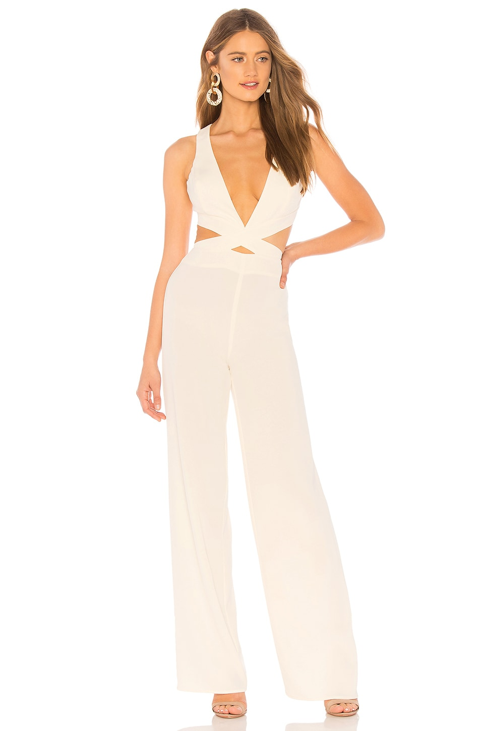 NBD x NAVEN Madeline Jumpsuit in Ivory