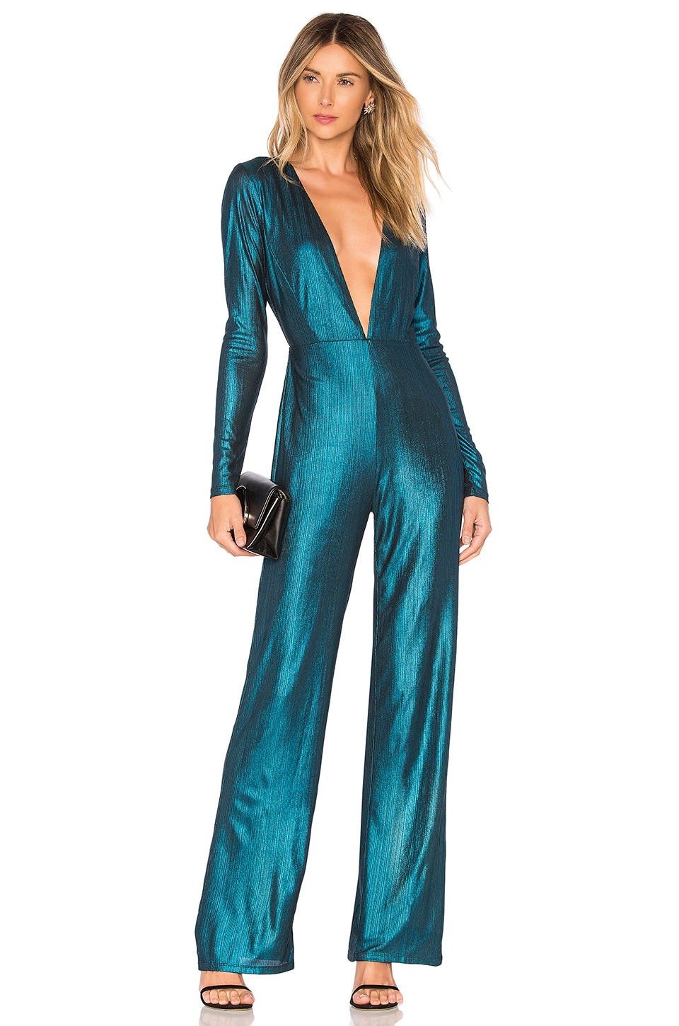 NBD x Naven Maxine Jumpsuit in Teal