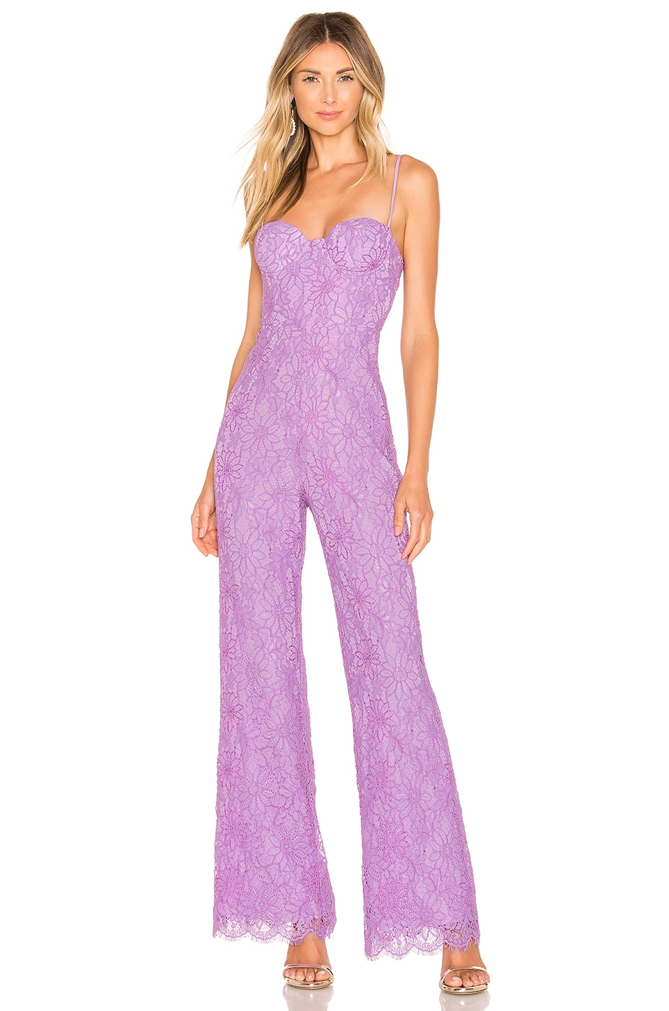 NBD x Naven Allie Jumpsuit in Lilac Purple