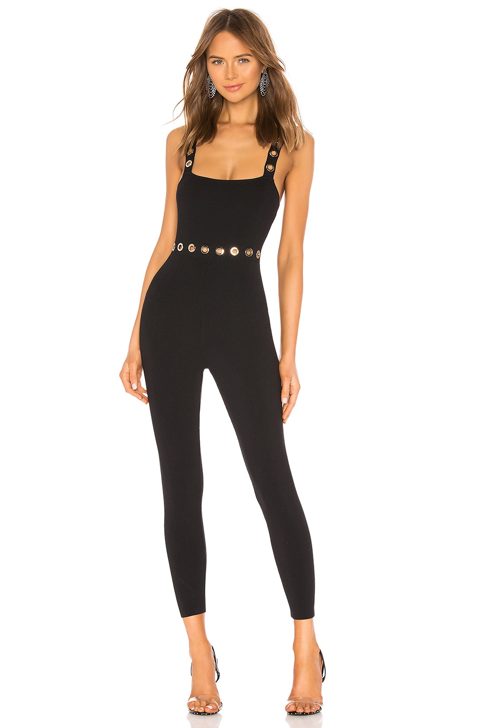 NBD x Naven Jocelyn Bandage Jumpsuit in Black