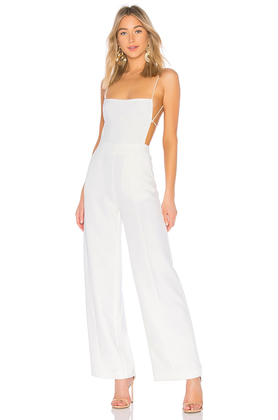 NBD Prosecco Jumpsuit in Ivory