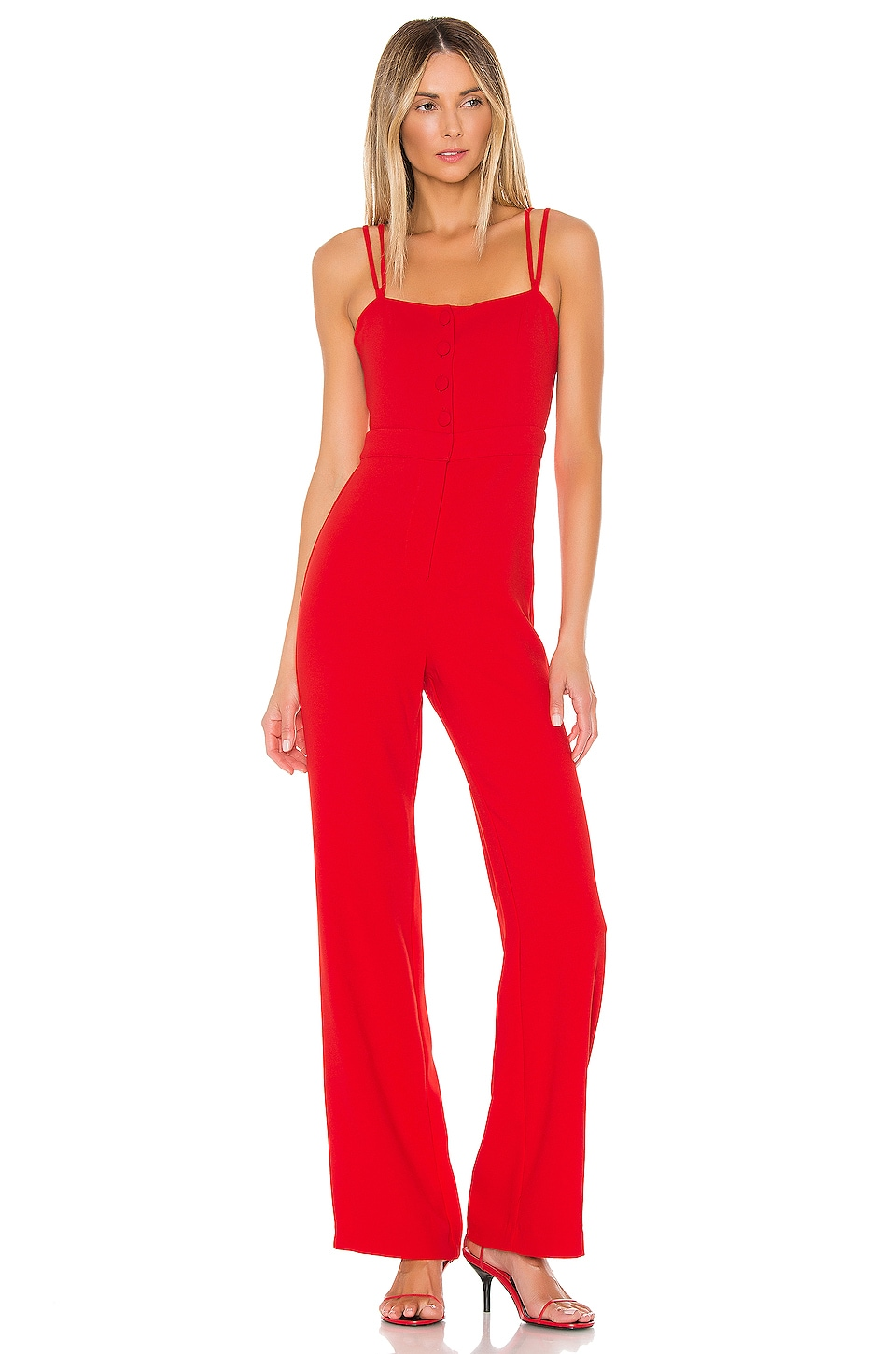 NBD Norma Jumpsuit in Red