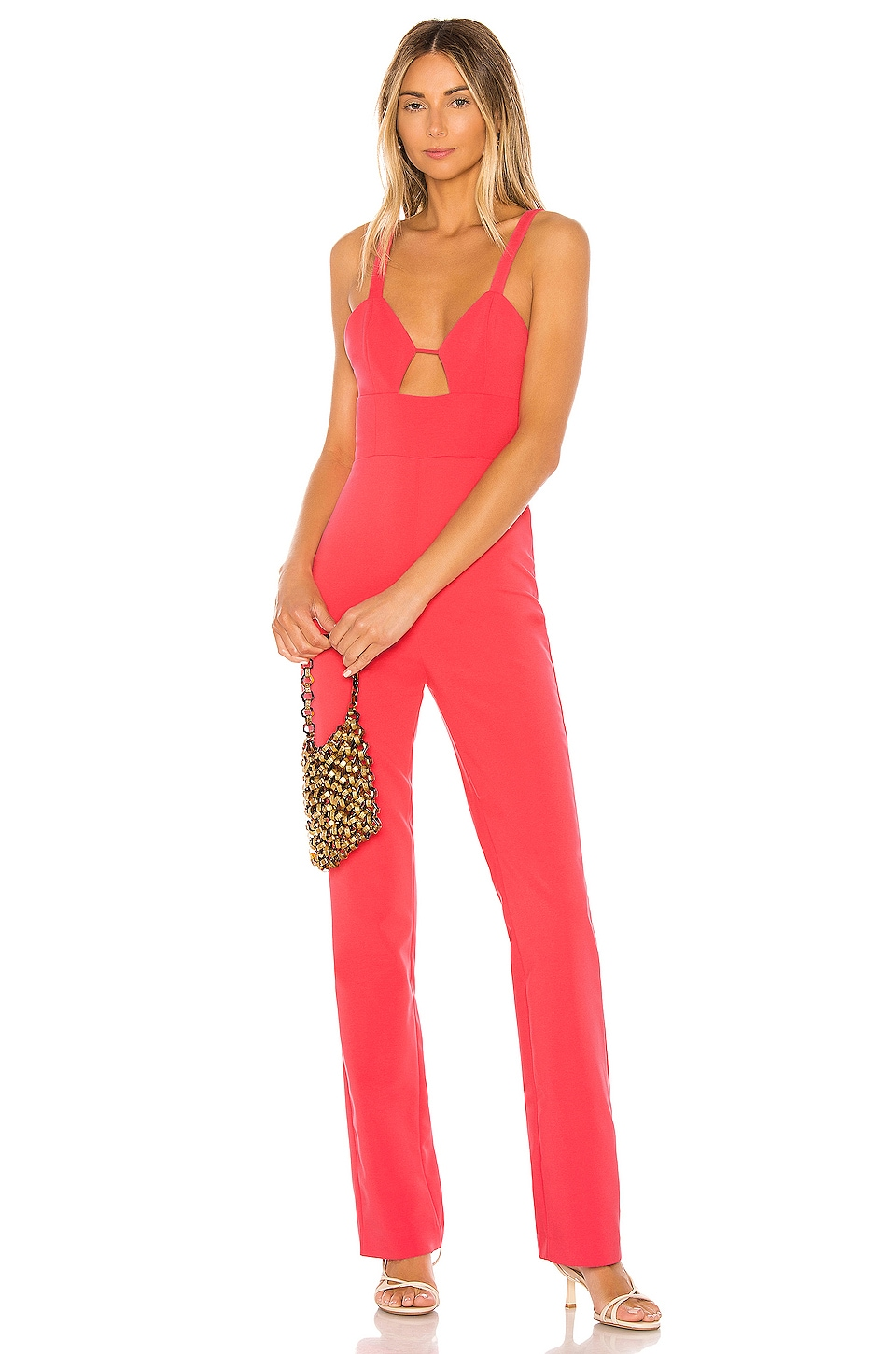 NBD Citrine Jumpsuit in Coral Pink