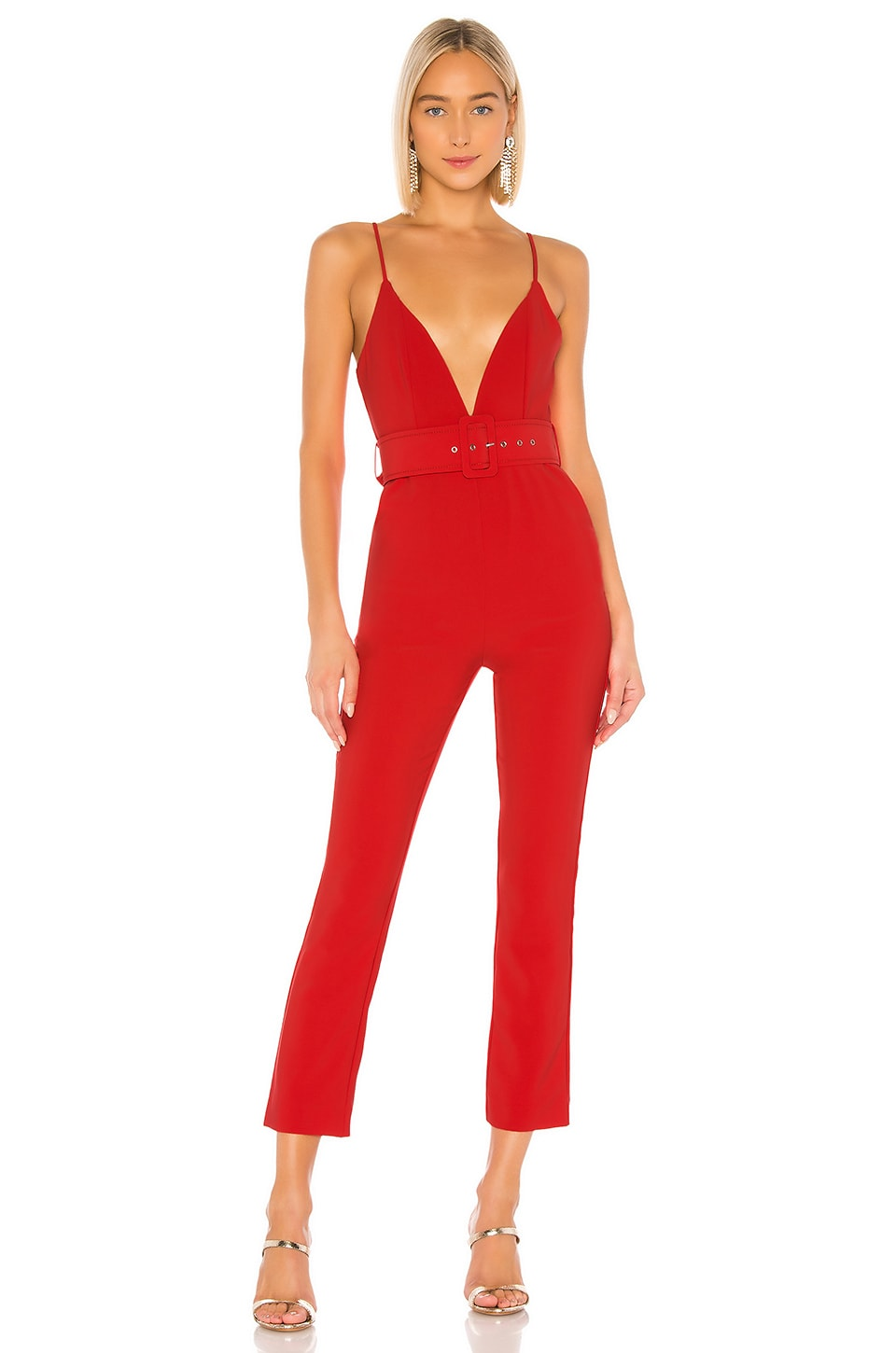 NBD Reagan Jumpsuit in Red