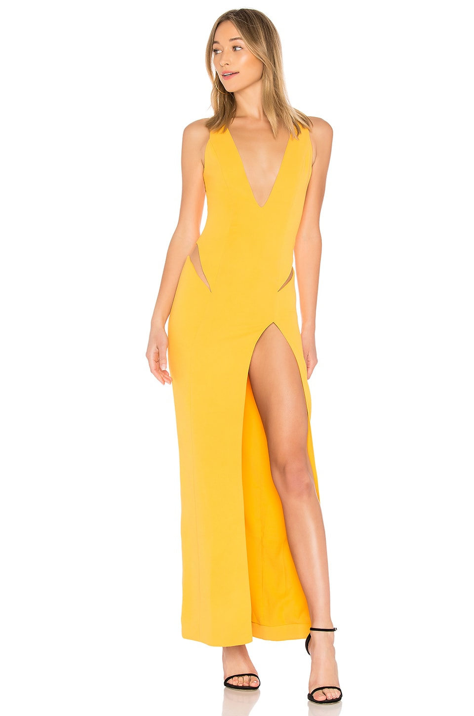 NBD Tweet Gown in Canary