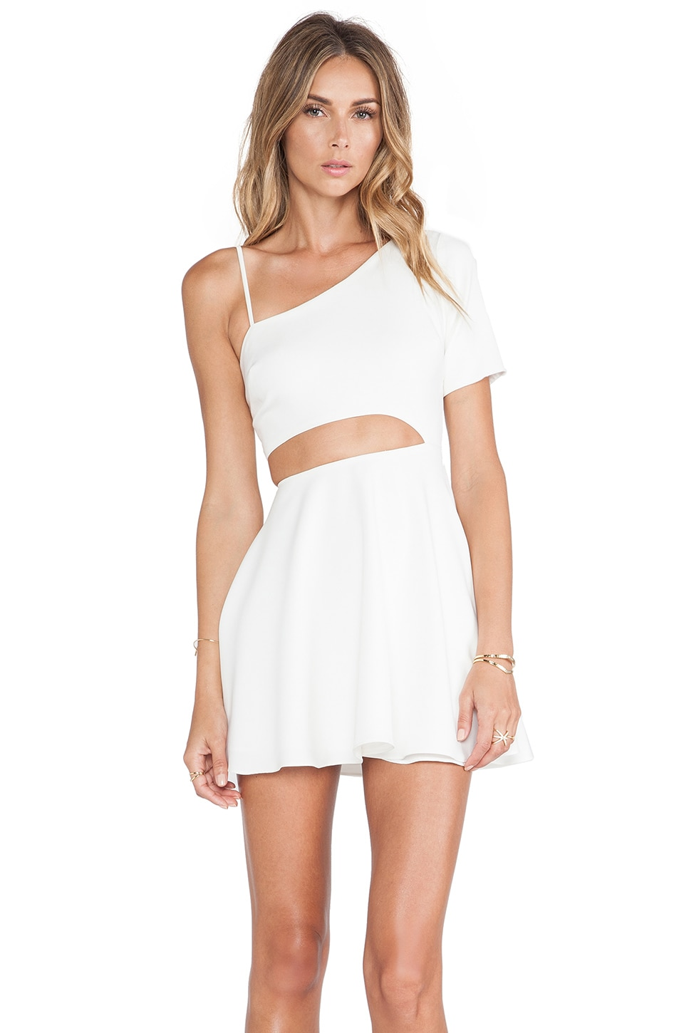 NBD Starlet Fit & Flare Dress in Ivory
