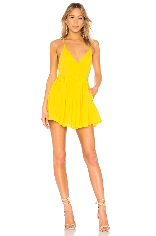 NBD Suki Mini Dress in Vibrant Yellow
