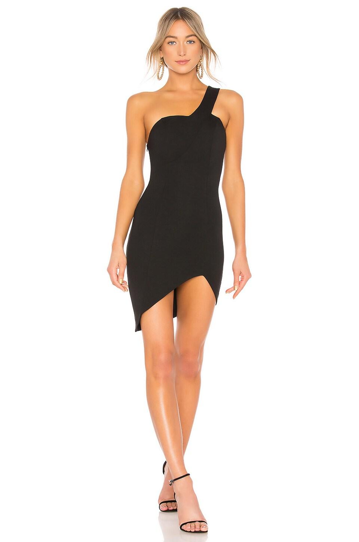 NBD Finola One Shoulder Dress in Black