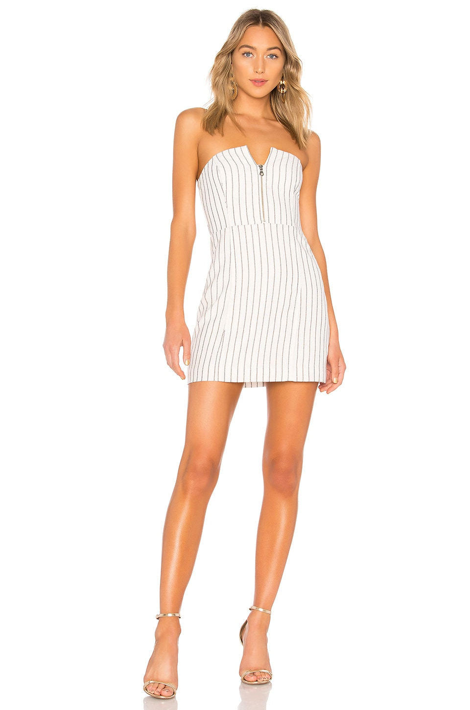 NBD Papillon Mini Dress in White & Black