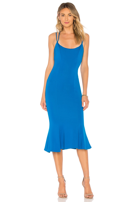 NBD Melody Midi Dress in Cerulean Blue