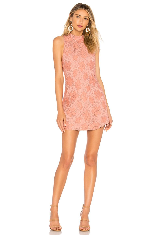 NBD Hibiscus Mini Dress in Pink Blush