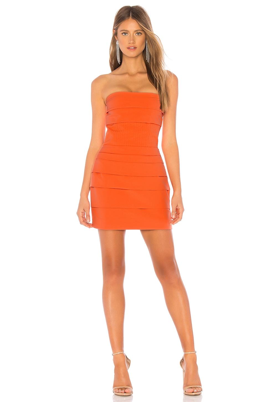 NBD Overdrive Strapless Mini Dress in Poppy Orange