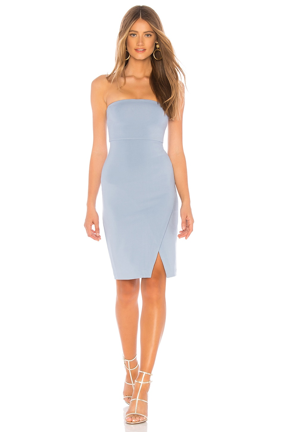NBD Wailea Midi Dress in Baby Blue