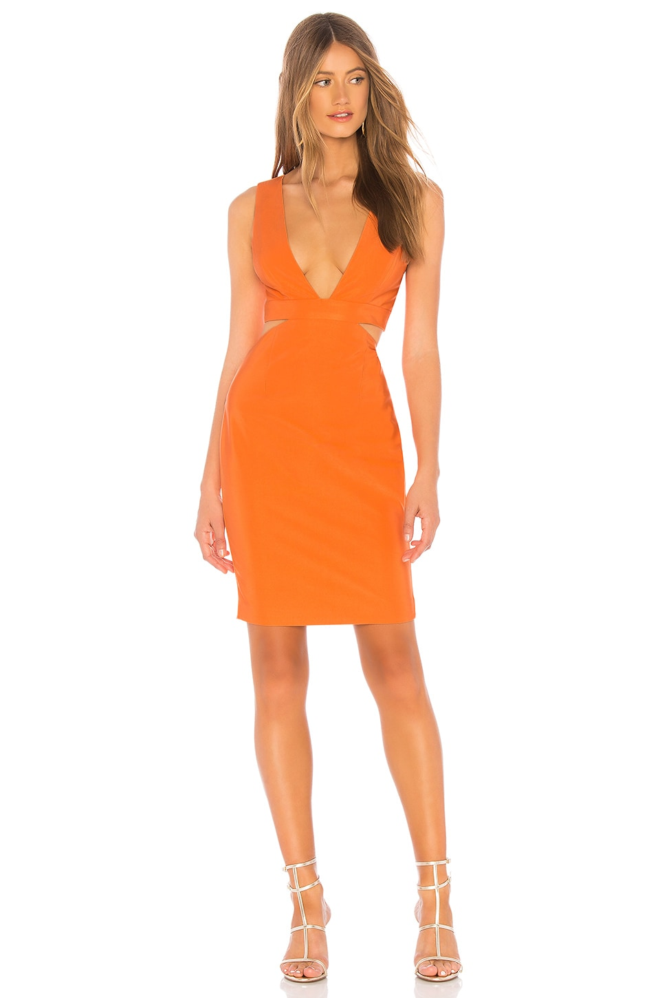 NBD Sophia Dress in Papaya