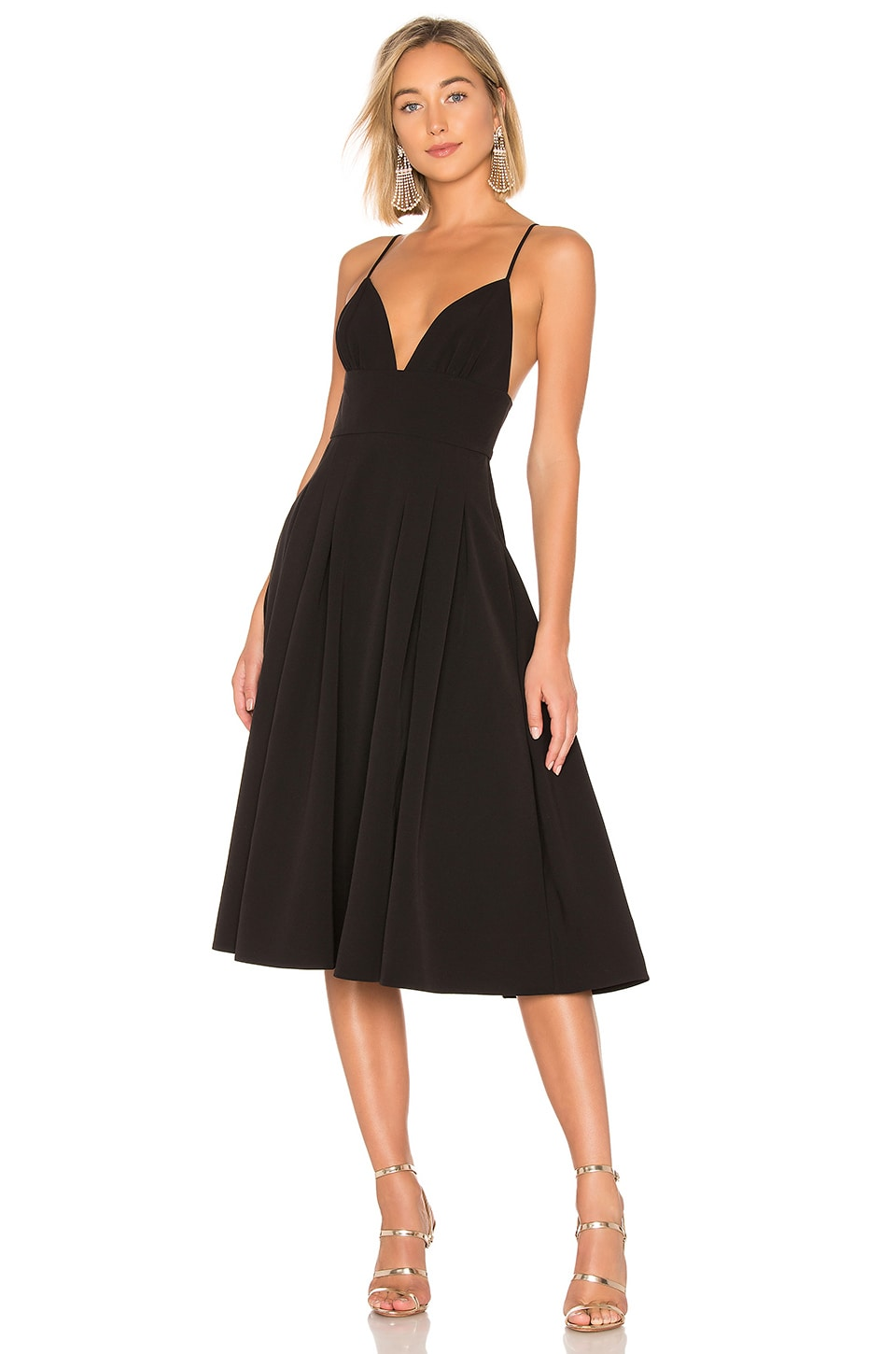 NBD Henri Midi Dress in Black