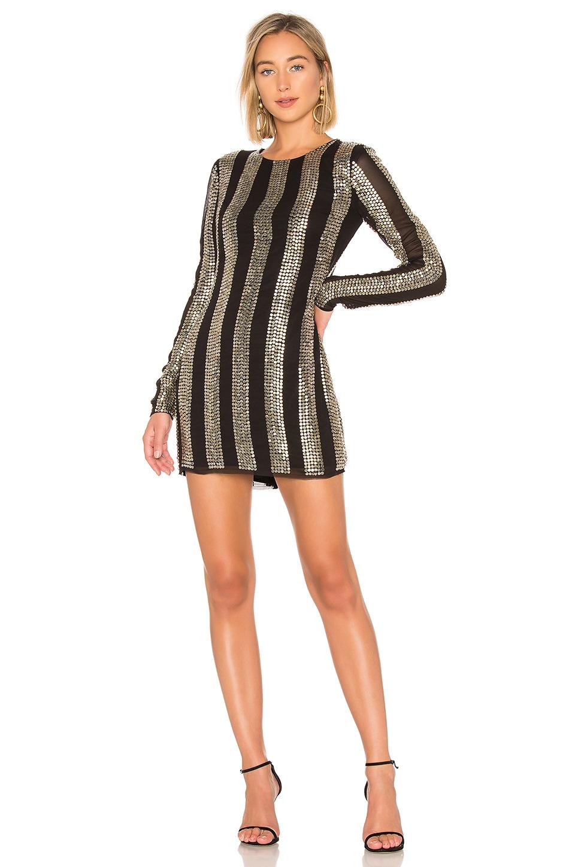 NBD John Mini Dress in Black & Silver