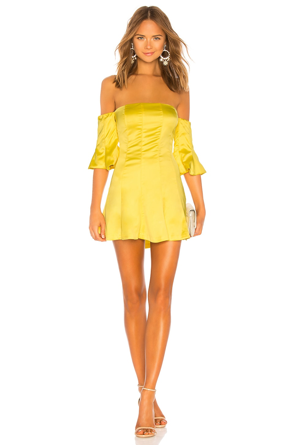 NBD Iris Mini Dress in Yellow