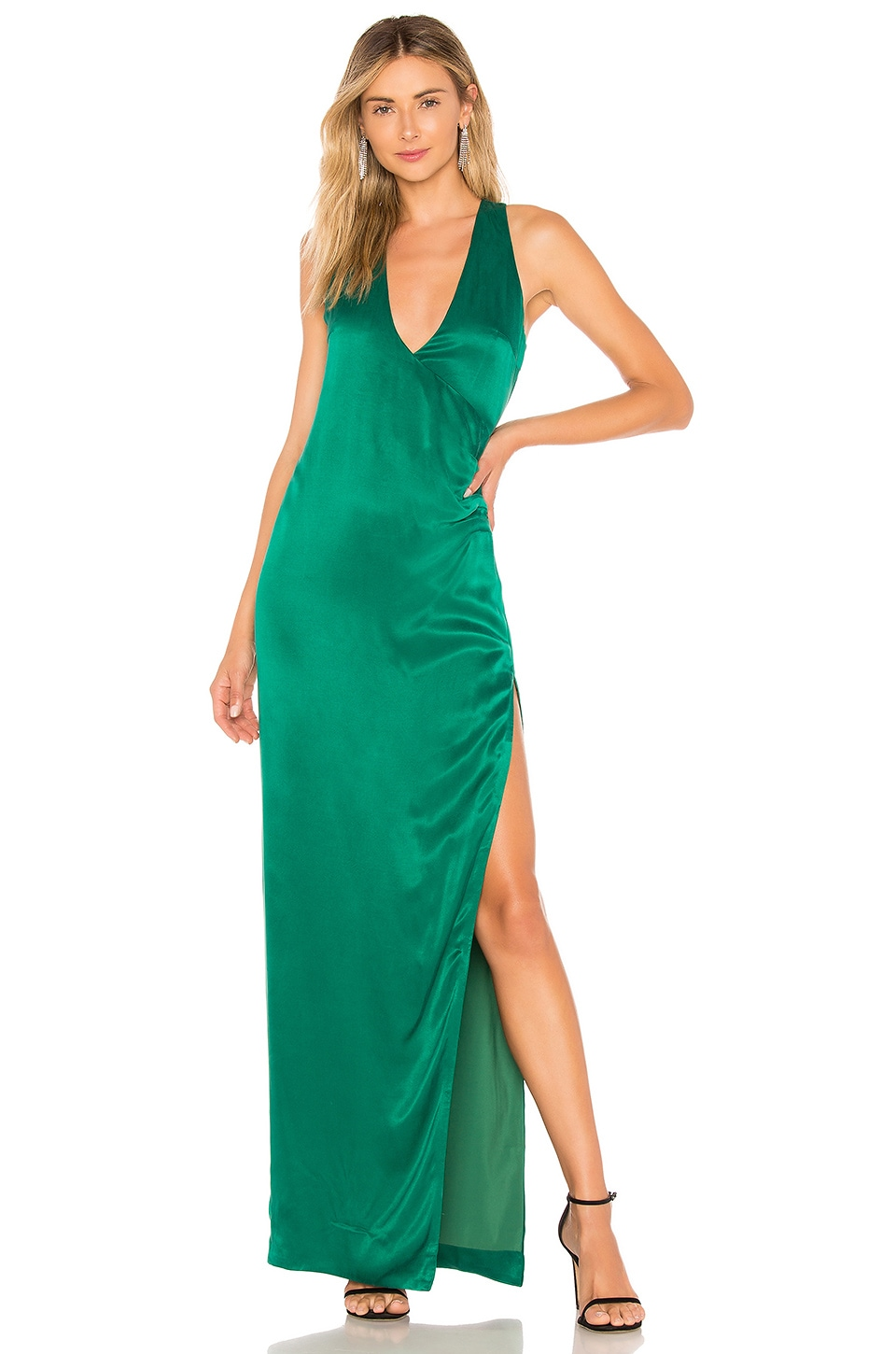 NBD Beverly Blvd Gown in Kelly Green
