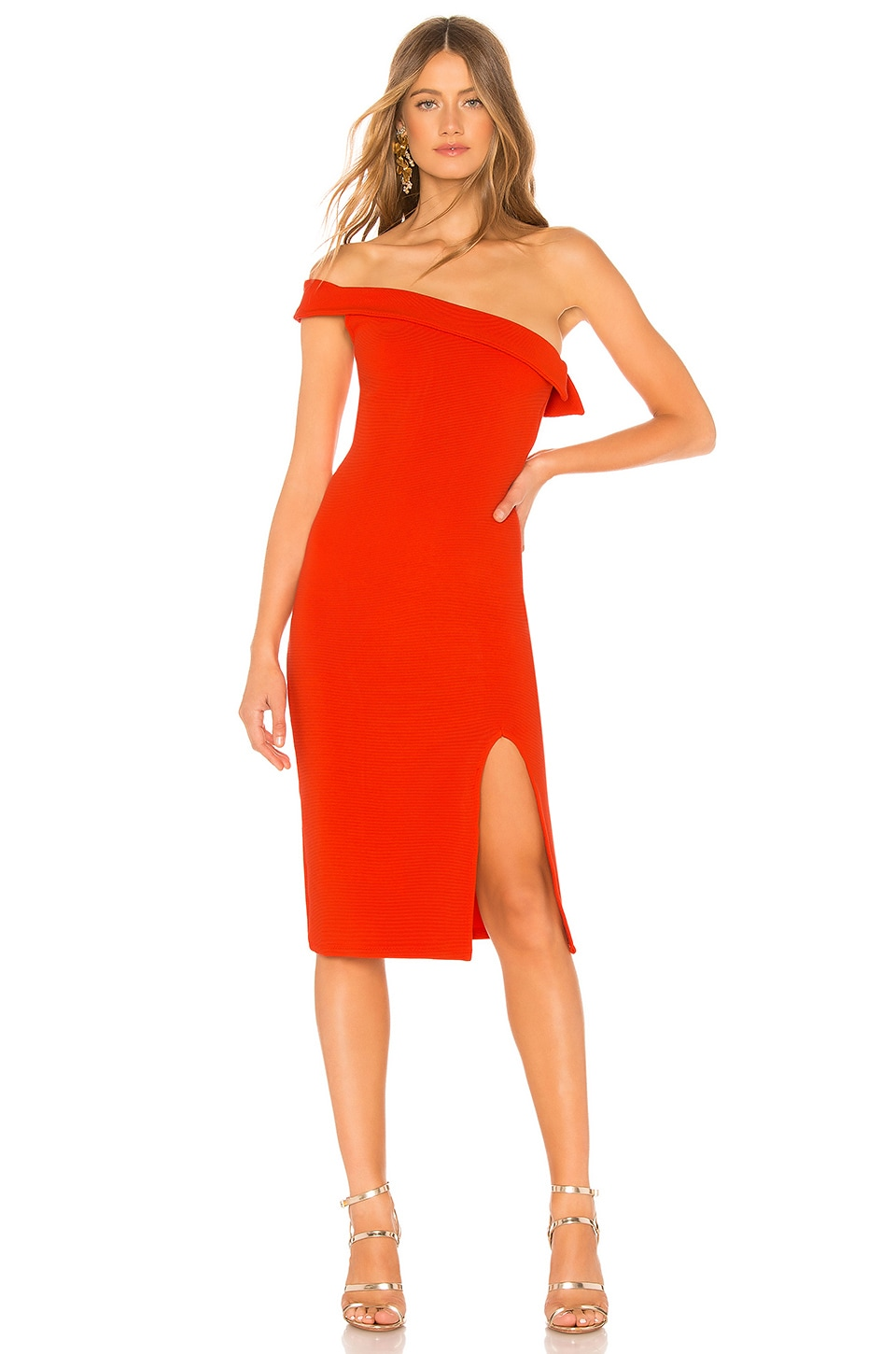 NBD Kade Midi Dress in Bright Red