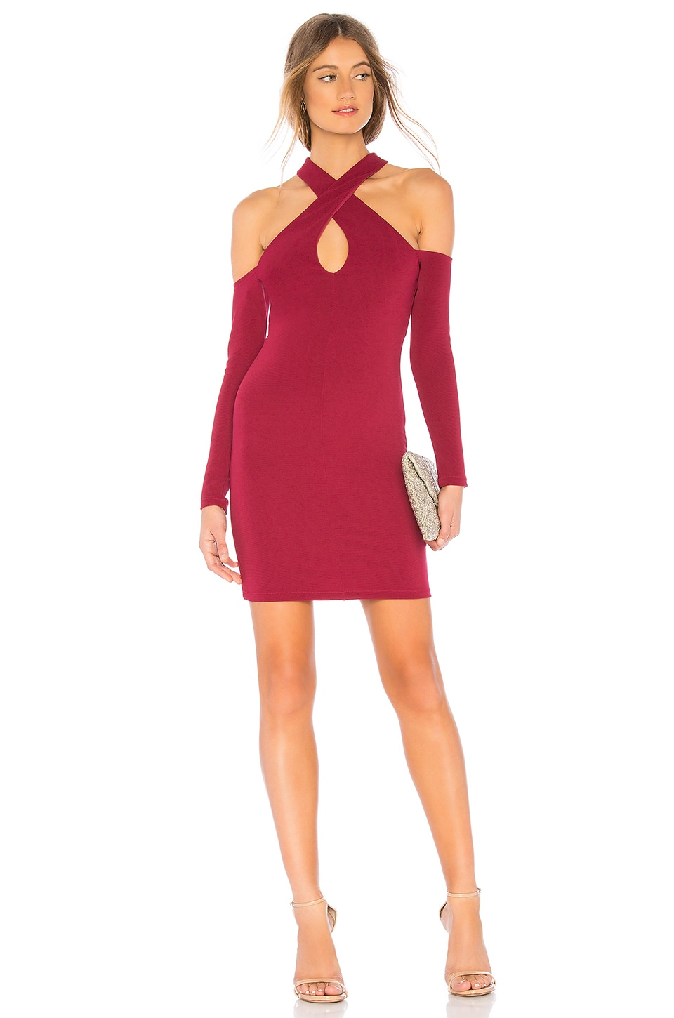 NBD Dominique Dress in Burgundy