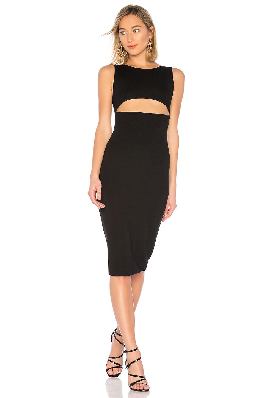 NBD Stormi Midi Dress in Black